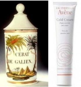 cerat de galien et cold cream avene 279x300 Du cérat de Galien au Cold Cream