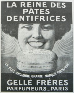 pate dentifrice gellé frères