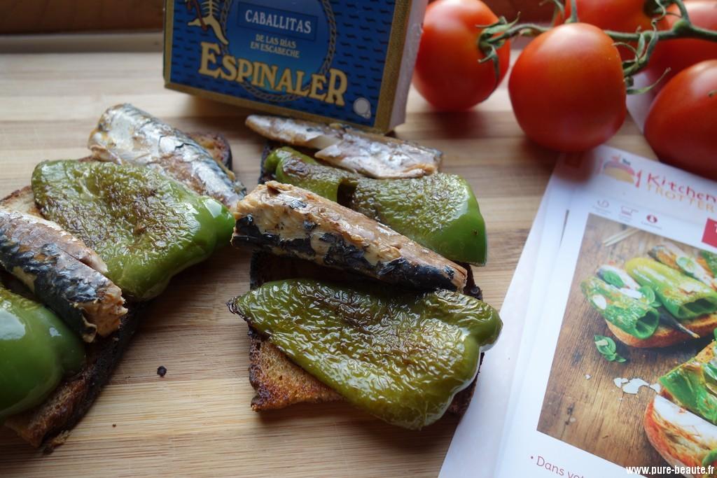 Kitchen trotter - tapas de poivrons verts