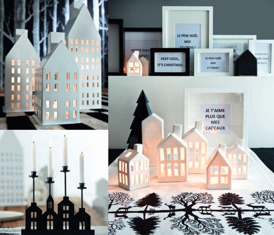 concours no l en noir et blanc avec les bougies la. Black Bedroom Furniture Sets. Home Design Ideas
