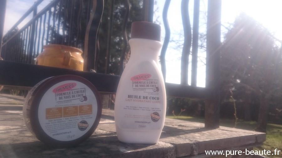 lait et beurre hydratant pour le corps à l'huile de noix de coco palmer's
