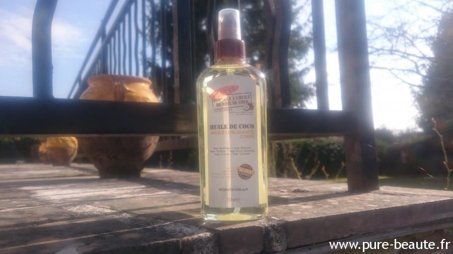 huile sublimatrice à l'huile de noix de coco palmer's