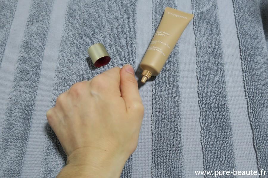 Fond de teint Pores et Matité appliqué
