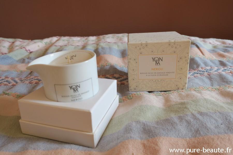 Bougie huile de massage Yon-Ka au Néroli
