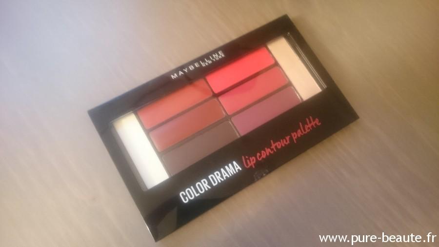 palette lip contouring crimson vixen color drama de maybelline
