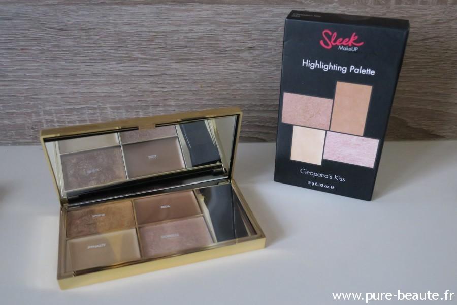 hightlighting palette sleek makeup