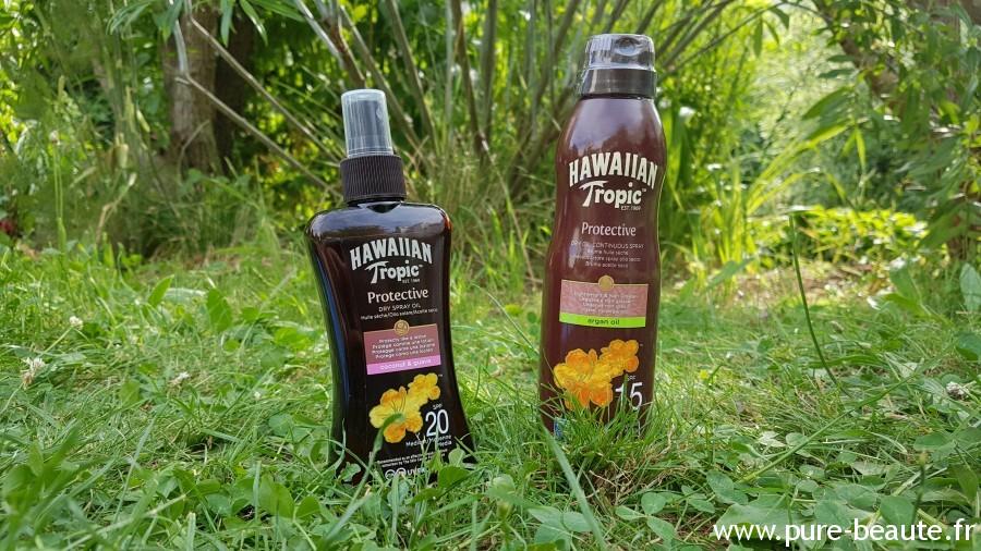 huiles seches Hawaiian Tropic protective