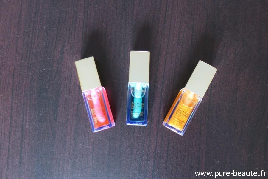 Les trois huiles pour les lèvres de Clarins