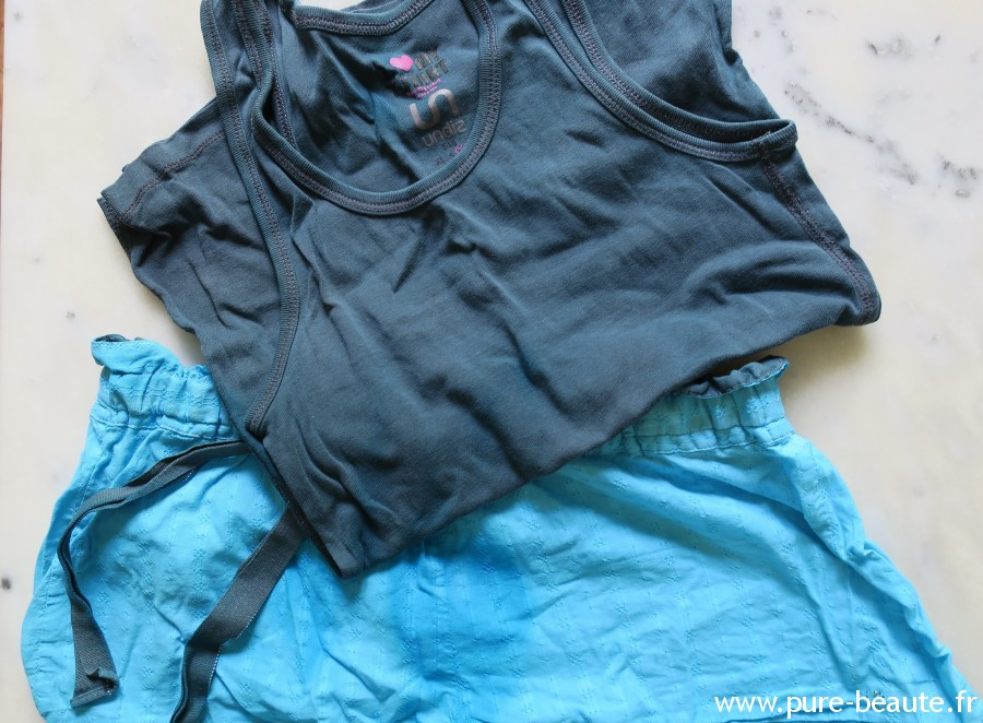 Idéal - Pyjama après teinture turquoise