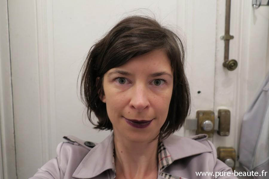 Rouge à lèvre fonce Sleek Make up test