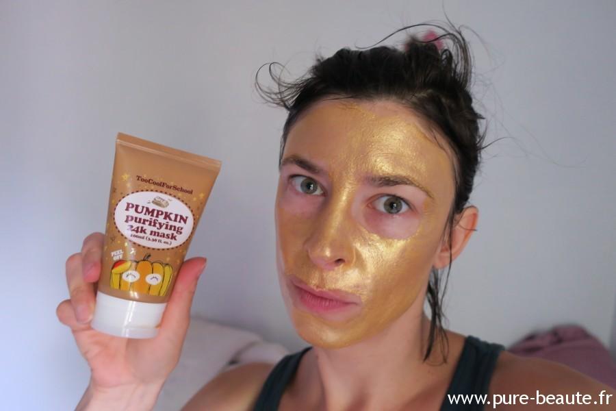 Citrouille party Pumpkin purifying mask Test